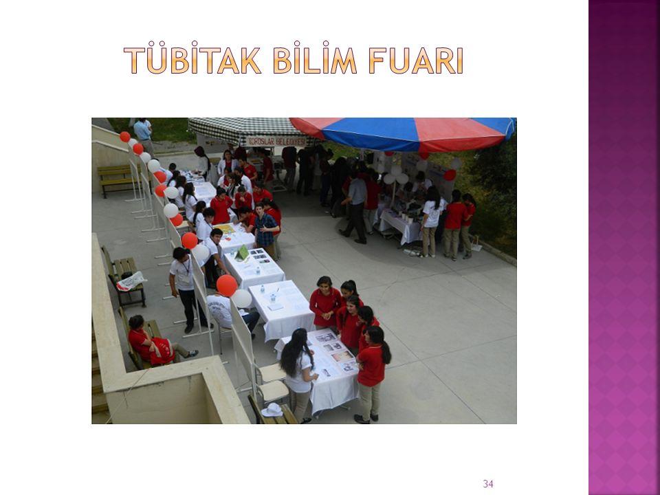  Okulumuzda 11-13 Mayıs tarihleri arasında düzenlenen TUBİTAK 4006 Bilim Fuarı etkinlikleri okul bahçesinde yapıldı.