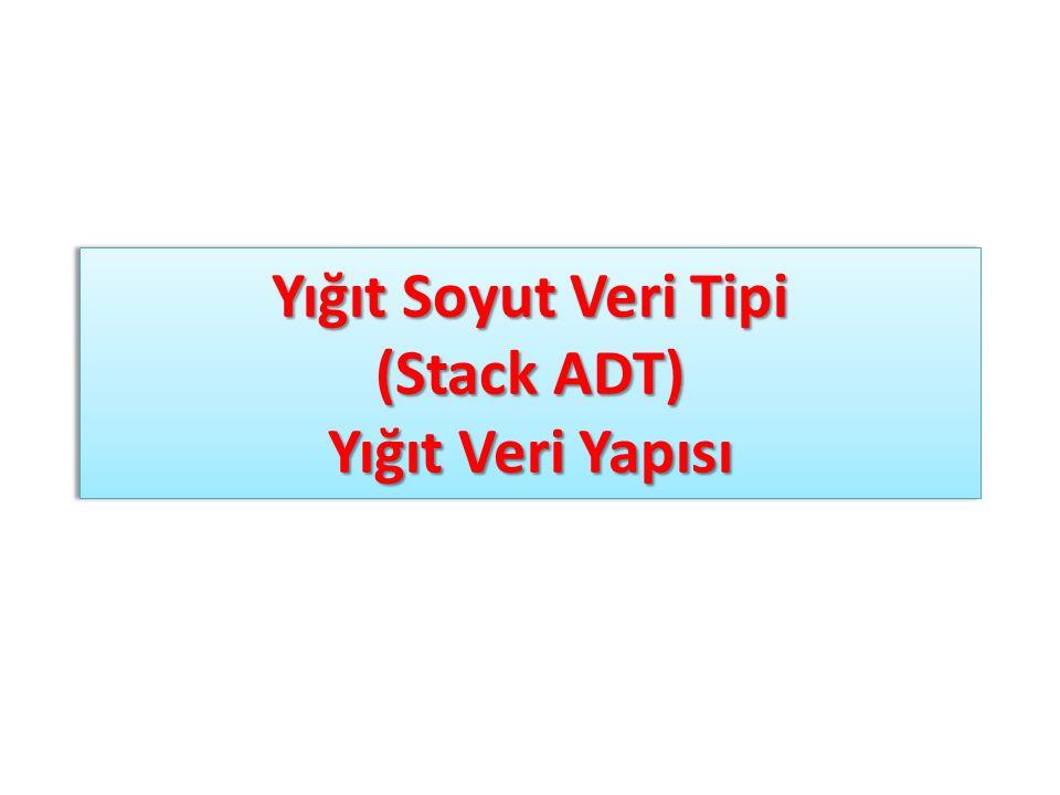 Stack ADT – Dizi ile gerçekleştirme stack1.push(Eleman0) stack1.