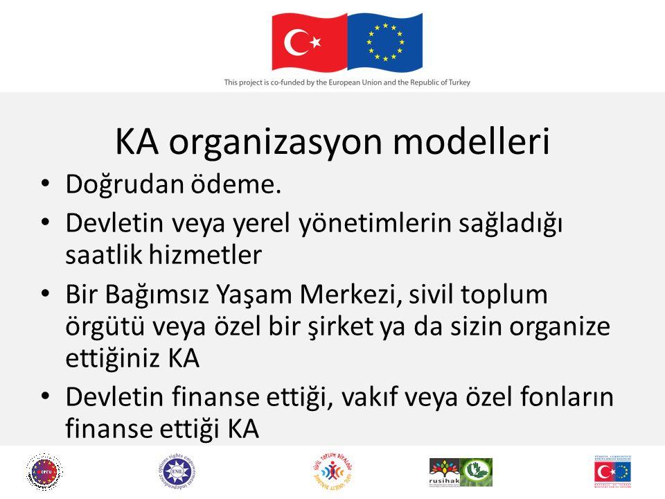 KA organizasyon modelleri Doğrudan ödeme.