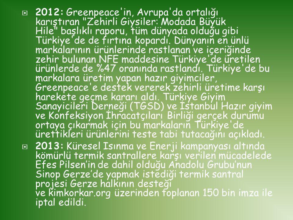  2012: Greenpeace'in, Avrupa'da ortalığı karıştıran