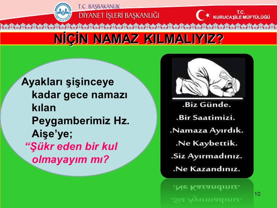 NİÇİN NAMAZ KILMALIYIZ. T.C.