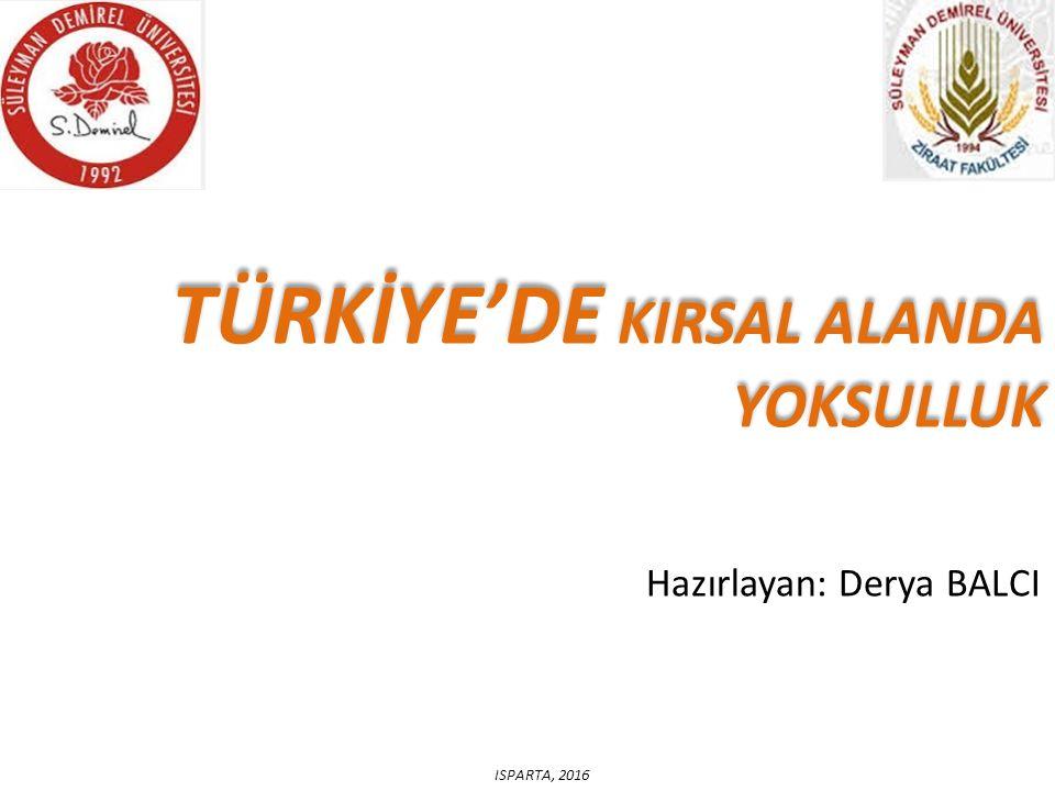 KAYNAKLAR  ARPACIOĞLU, Ö., YILDIRIM, M.2011. ''Dünyada ve Türkiye'de Yoksulluğun Analizi''.