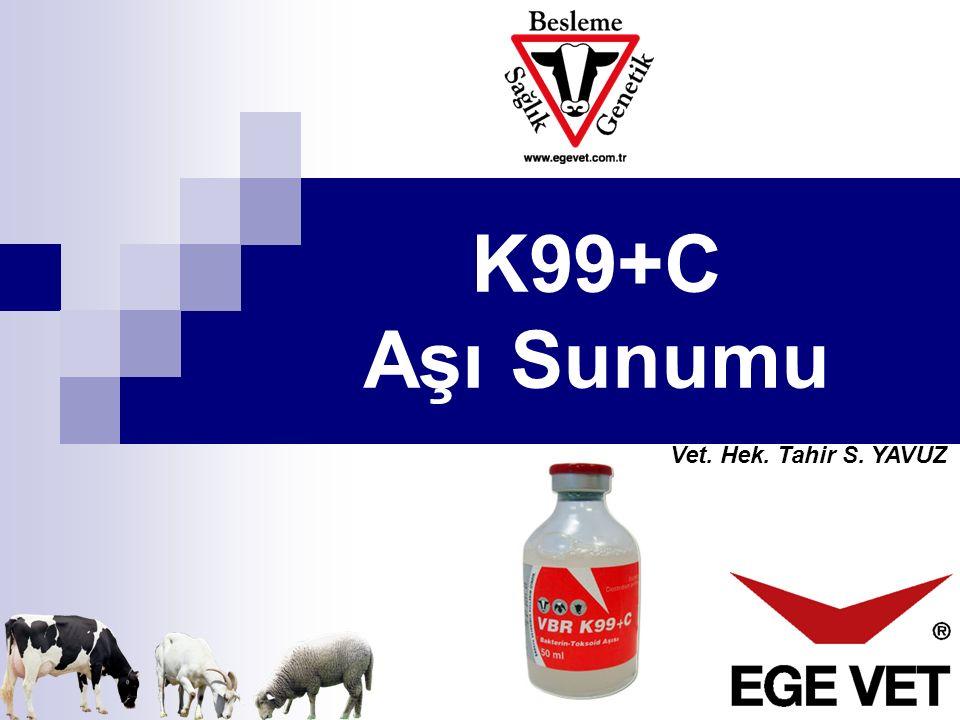 Vet. Hek. Tahir S. YAVUZ K99+C Aşı Sunumu