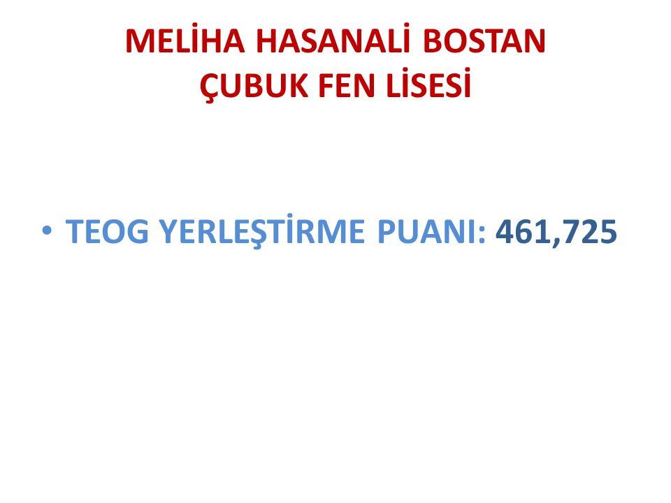 TEOG YERLEŞTİRME PUANI: 461,725
