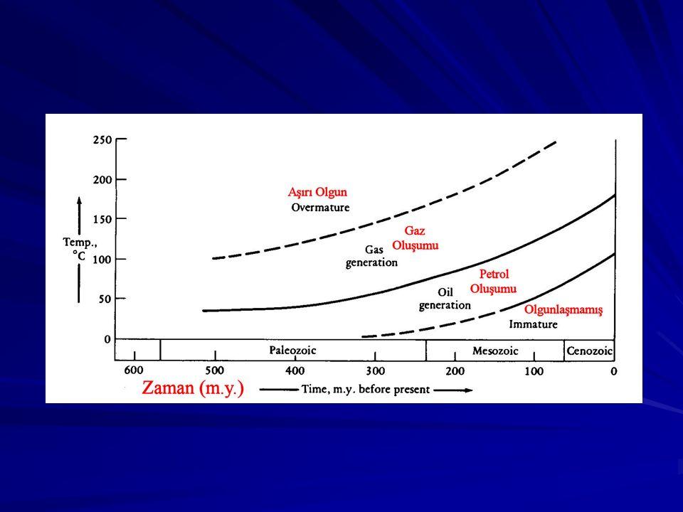 KEROJEN OLGUNLAŞMA İNDEKSLERİ Sedimanter basenlerin petrol potansiyelinin tayininde kerojen olgunlaşma indeksleri önemli ölçüde kullanılır.
