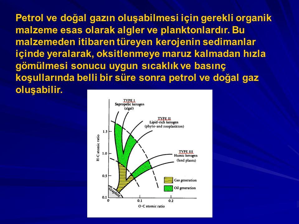 PETROL ve DOĞAL GAZIN OLUŞUMUNDA SICAKLIĞIN ÖNEMİ Kimyasal kinetik kanunlarına göre, Arrhenius denklemiyle ifade edildiği üzere, bir kimyasal reaksiyonun hızı sıcaklık ve zamana bağlıdır.