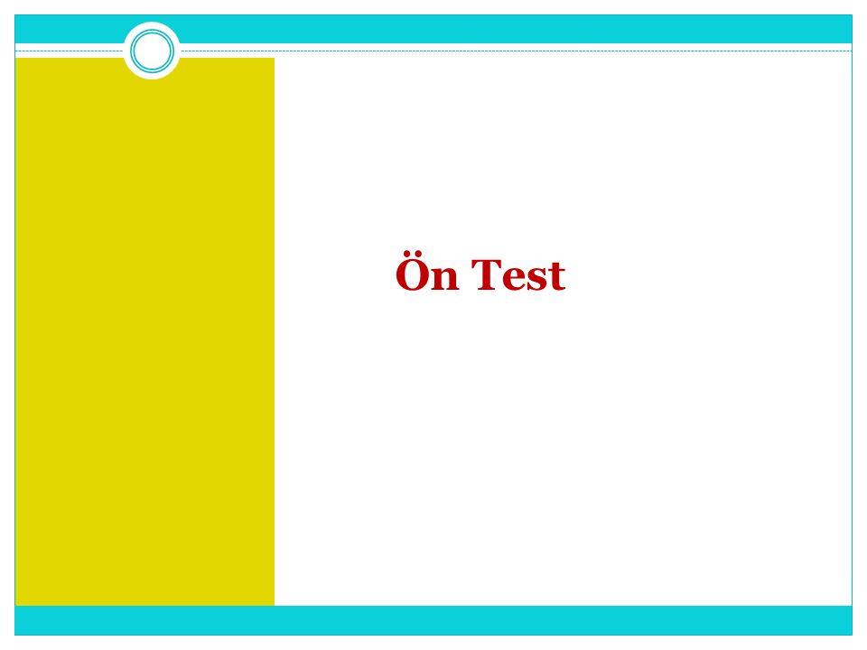 Ön Test
