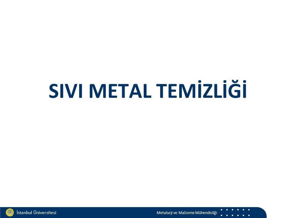 Materials and Chemistry İstanbul Üniversitesi Metalurji ve Malzeme Mühendisliği İstanbul Üniversitesi Metalurji ve Malzeme Mühendisliği SIVI METAL TEMİZLİĞİ