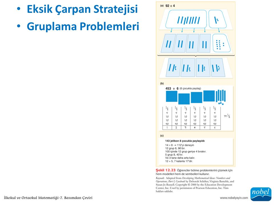 Eksik Çarpan Stratejisi Gruplama Problemleri