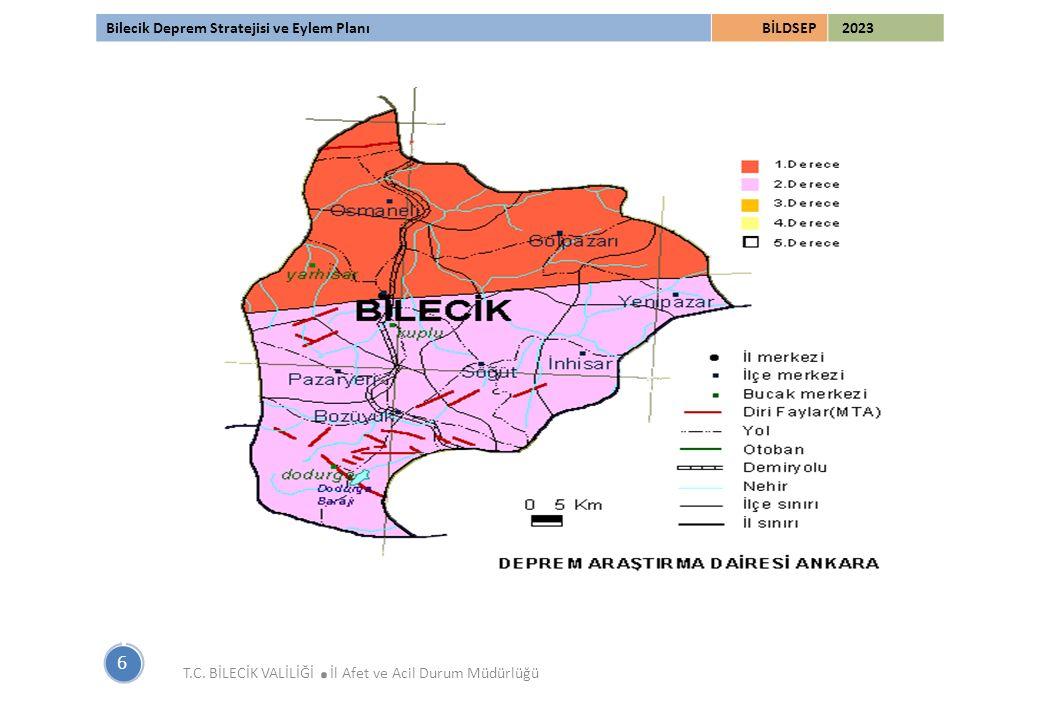Bilecik Deprem Stratejisi ve Eylem PlanıBİLDSEP 2023 6 T.C. BİLECİK VALİLİĞİ. İl Afet ve Acil Durum Müdürlüğü