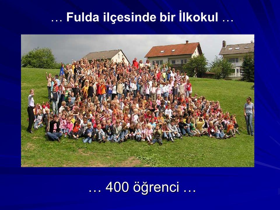 … 400 öğrenci … … Fulda ilçesinde bir İlkokul …