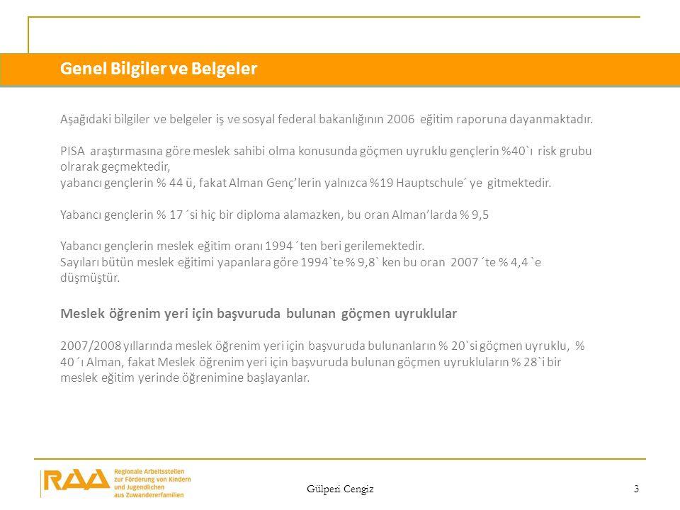 Gülperi Cengiz 3 Genel Bilgiler ve Belgeler Aşağıdaki bilgiler ve belgeler iş ve sosyal federal bakanlığının 2006 eğitim raporuna dayanmaktadır. PISA