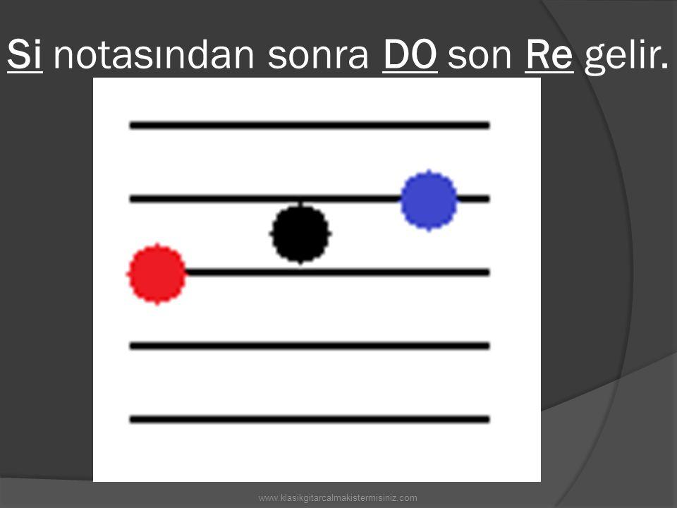 Si notasından sonra DO son Re gelir. www.klasikgitarcalmakistermisiniz.com