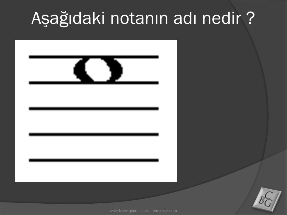 Aşağıdaki notanın adı nedir ?