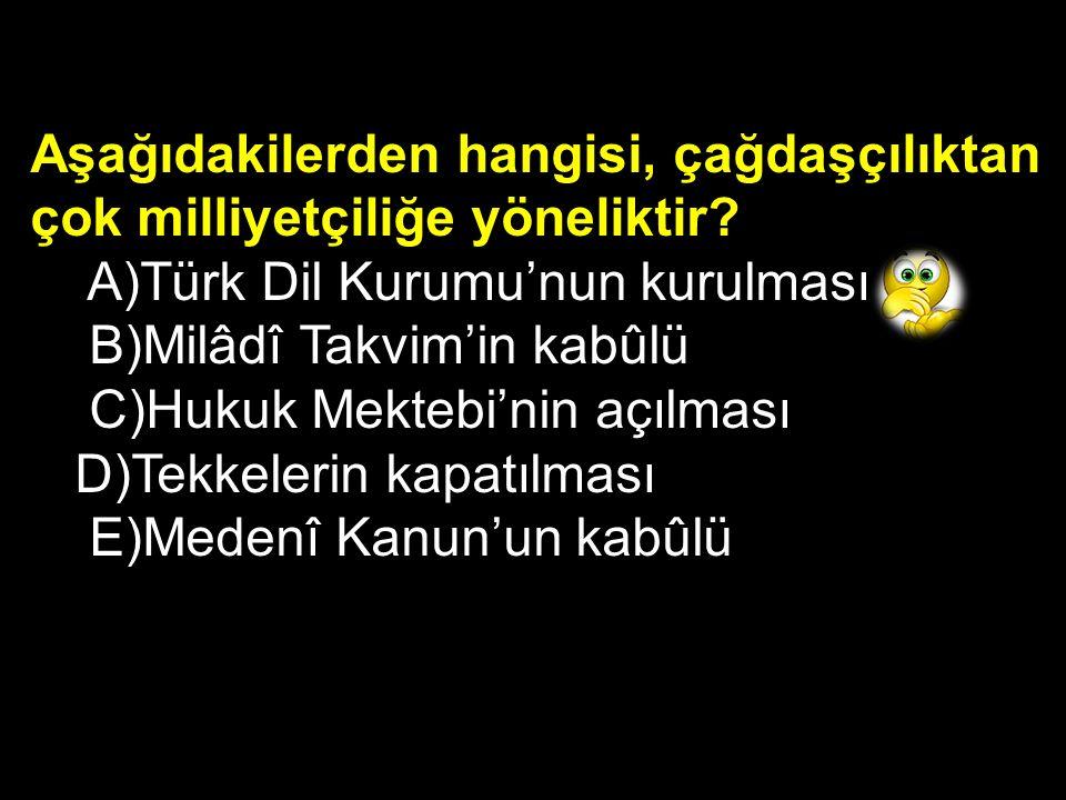 Türkiye Cumhuriyeti'nin kurulması ve ardından yapılan tüm yenilikler, aşağıdaki Atatürk ilkelerinden hangisiyle doğrudan ilgilidir? A)Halkçılık B)Cumh