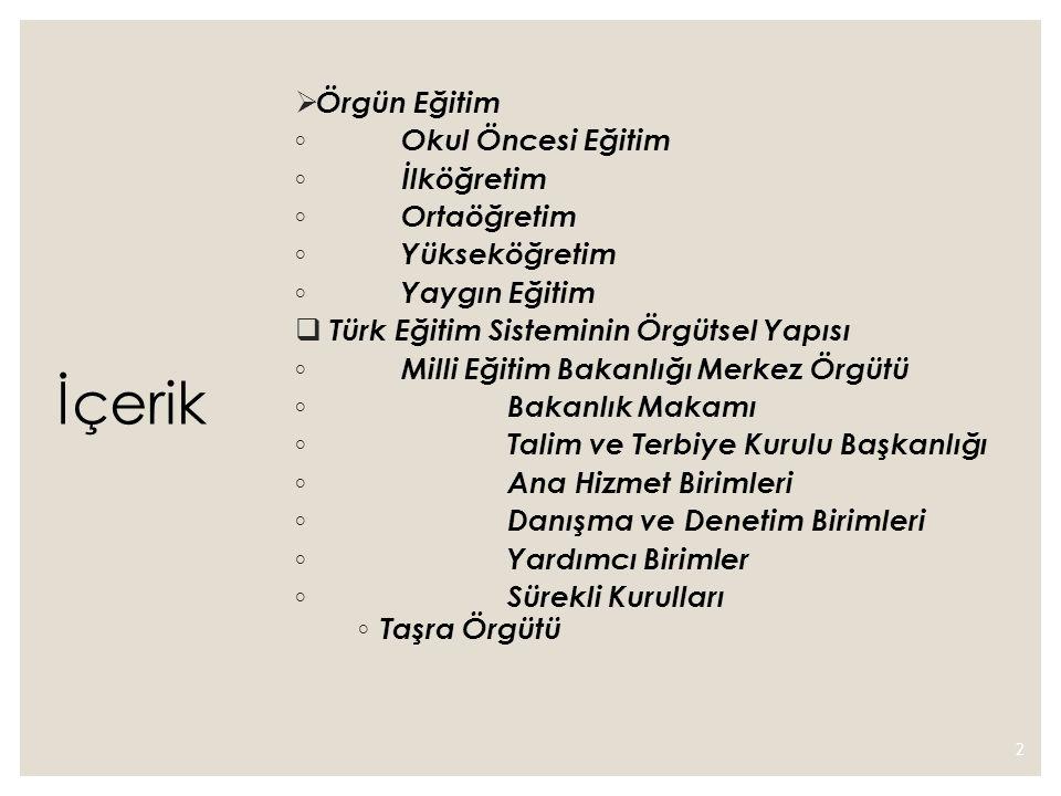 Mesleki yapılanma ◦ Türkiye de öğretmenlerin mesleki örgütlenme hareketleri 1908 yılına kadar dayanmaktadır.