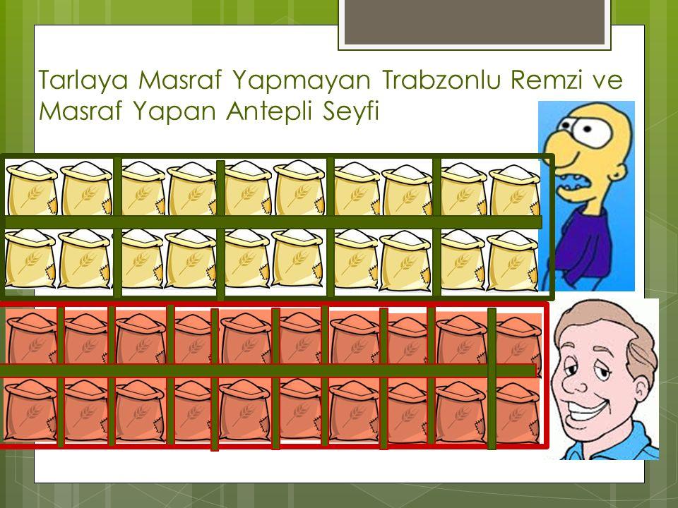 Tarlaya Masraf Yapmayan Trabzonlu Remzi ve Masraf Yapan Antepli Seyfi
