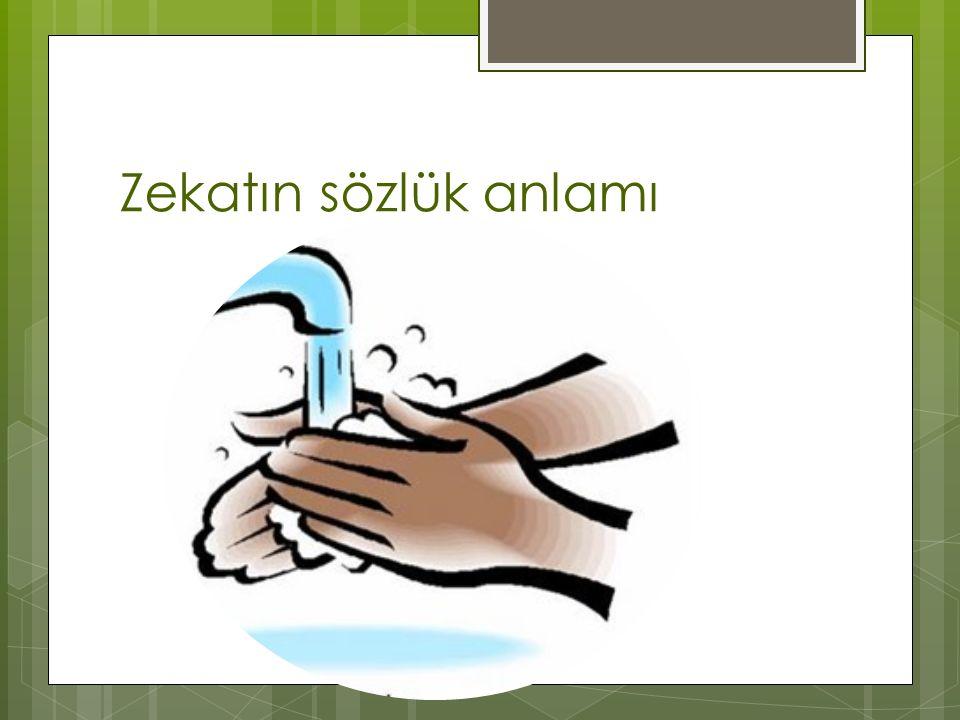 Zekat  Zengin müslümanların,  mallarından ya da paralarından bir kısmını,  Allah rızası için,  yılda bir kez,  ihtiyaç sahibi kimselere vermesidir.