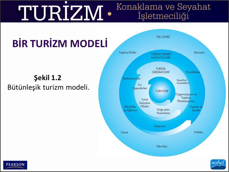 BİR TURİZM MODELİ Şekil 1.2 Bütünleşik turizm modeli.