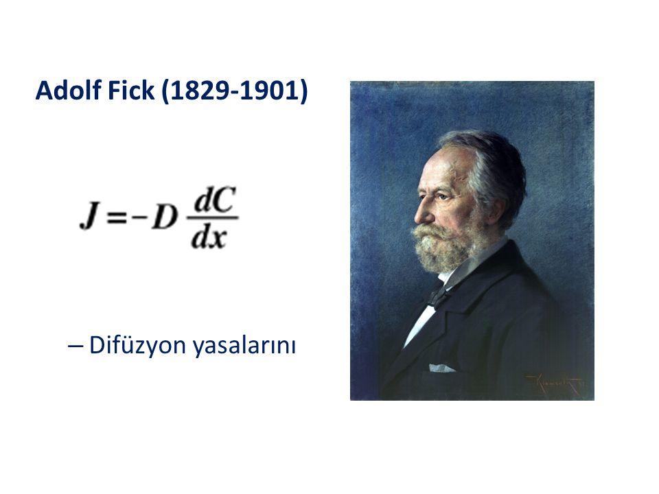 Adolf Fick (1829-1901) – Difüzyon yasalarını