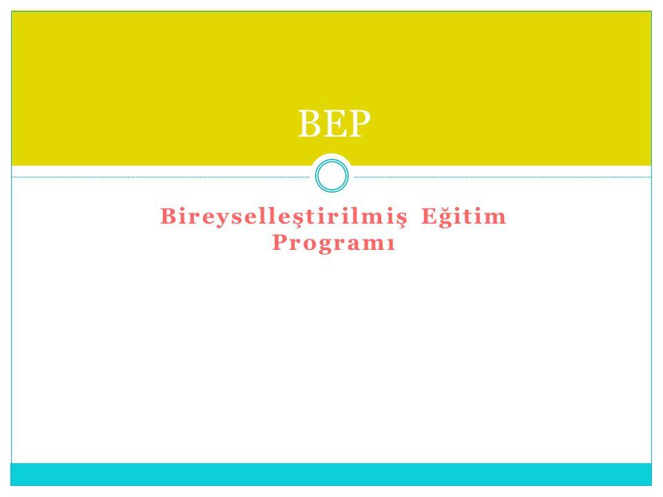 Bireyselleştirilmiş Eğitim Programı BEP