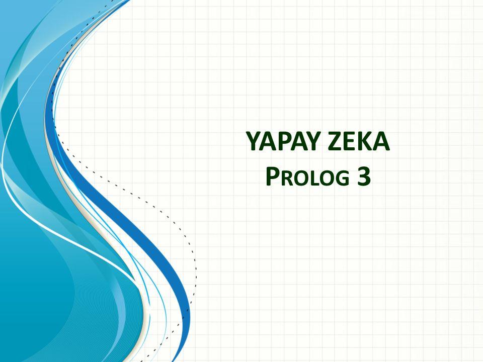 YAPAY ZEKA P ROLOG 3