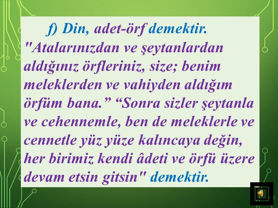 e) Din,