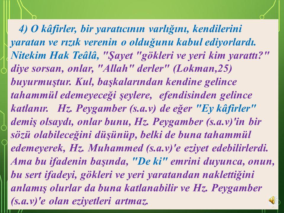 3) Hz. Peygamber (s.a.v),
