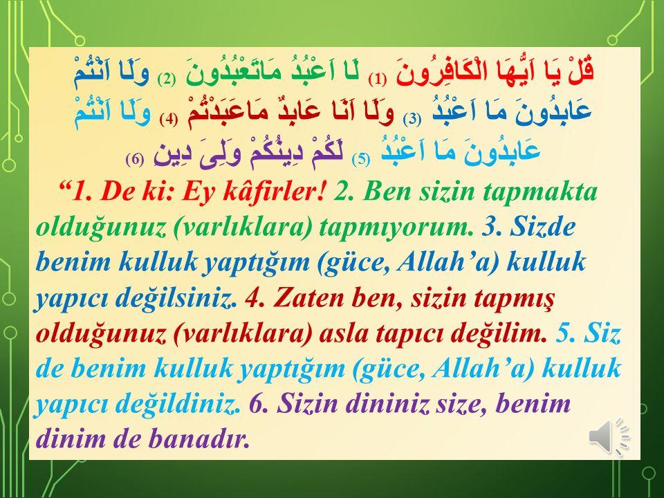 27) Allah Teâlâ adeta şöyle demek istemiştir: Ben sana, Gerekli ibadetlerinizi bitirdiğinizde yine Allah ı anın.