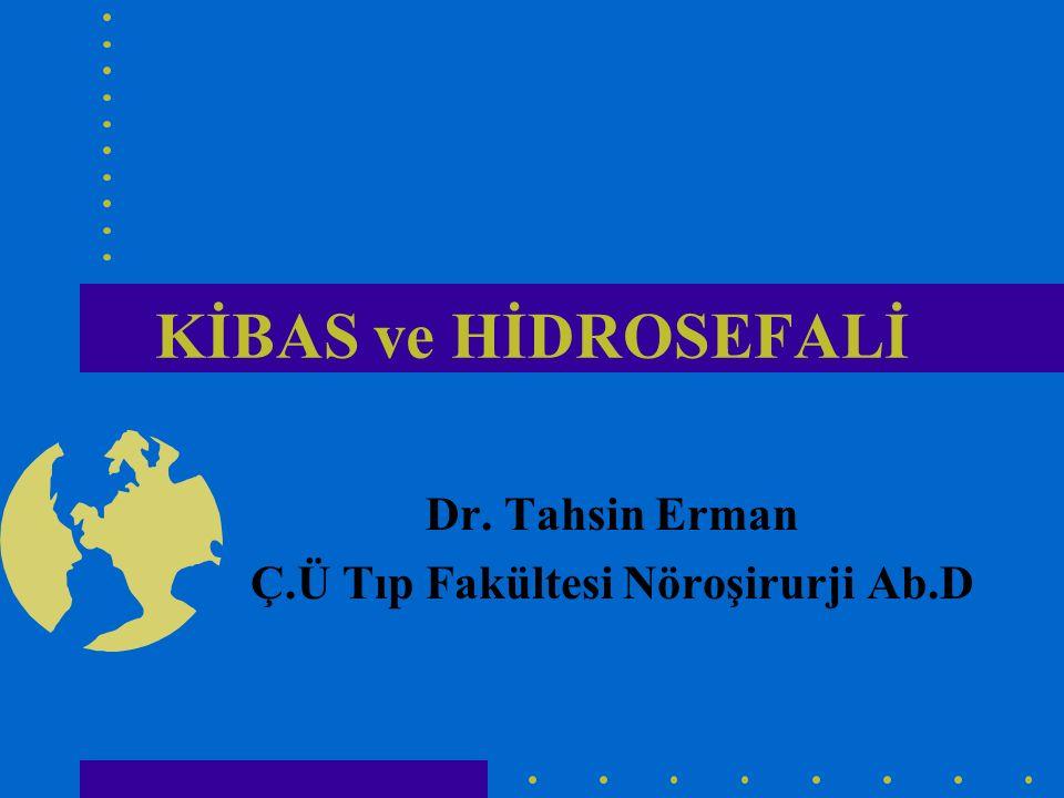 KİBAS ve HİDROSEFALİ Dr. Tahsin Erman Ç.Ü Tıp Fakültesi Nöroşirurji Ab.D