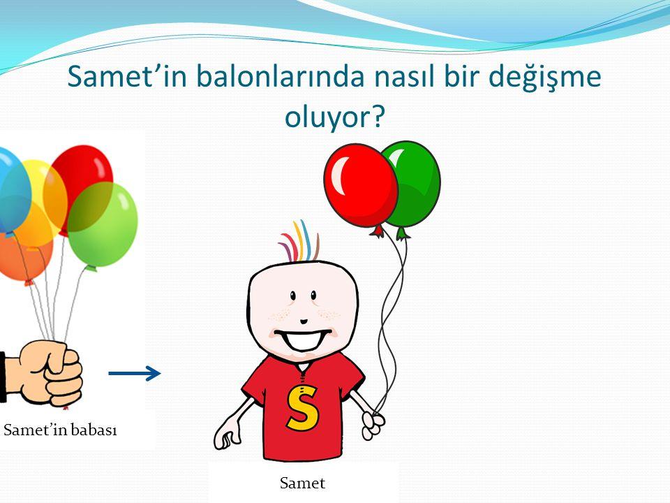 Samet'in babası Samet'in balonlarında nasıl bir değişme oluyor? Samet