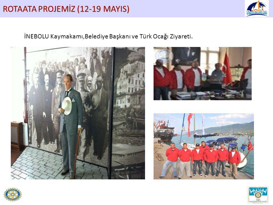 ROTAATA PROJEMİZ (12-19 MAYIS) İNEBOLU Kaymakamı,Belediye Başkanı ve Türk Ocağı Ziyareti.