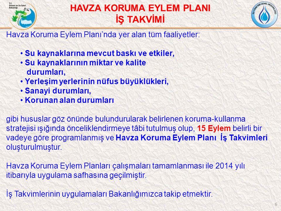17/213 SUSURLUK HAVZASI İŞ TAKVİMİ-YAYILI KAYNAK KİRLİLİĞİ