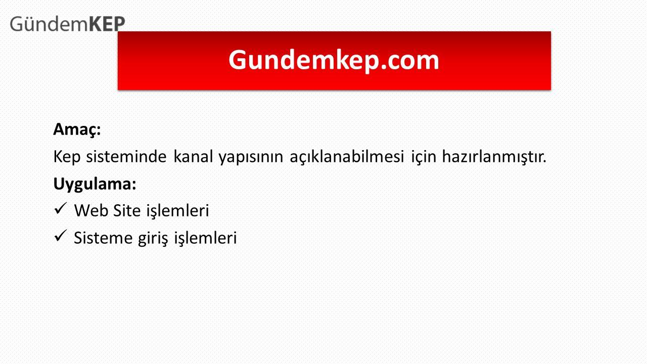 Gundemkep.com Amaç: Kep sisteminde kanal yapısının açıklanabilmesi için hazırlanmıştır.