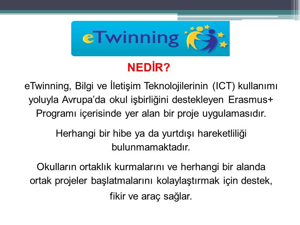 eTwinning, Bilgi ve İletişim Teknolojilerinin (ICT) kullanımı yoluyla Avrupa'da okul işbirliğini destekleyen Erasmus+ Programı içerisinde yer alan bir