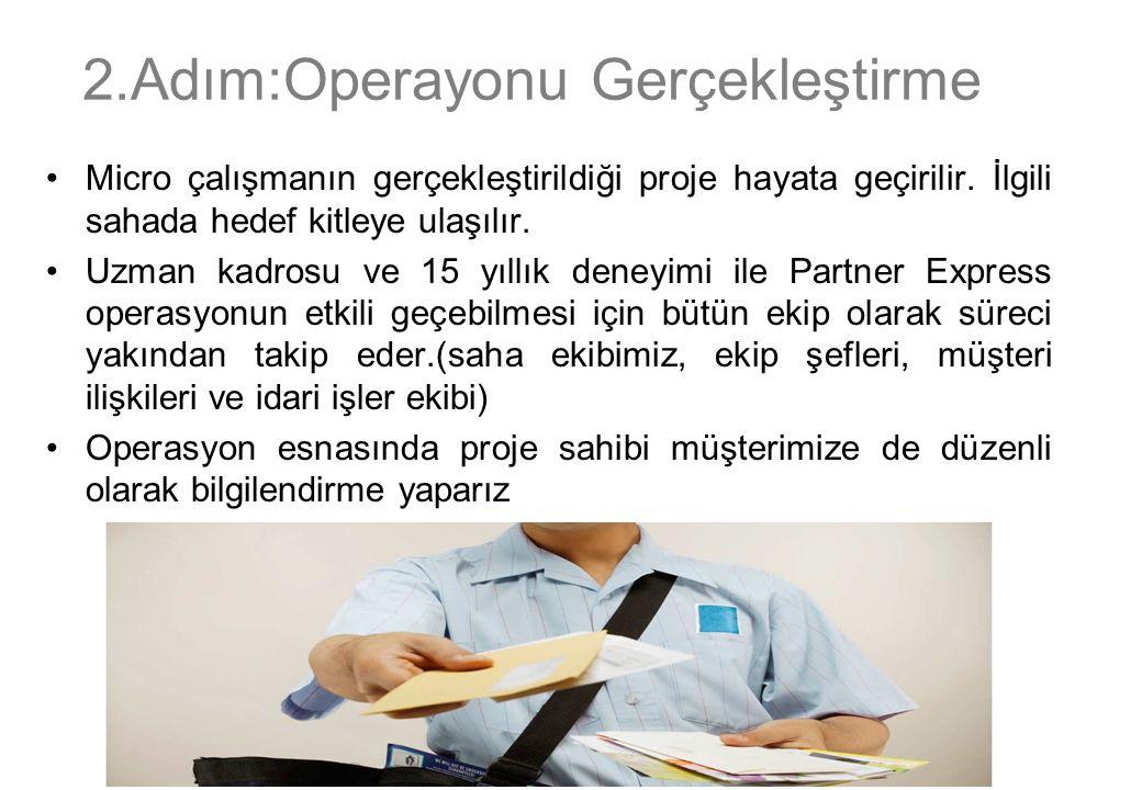 3.Adım:Operasyon Sonrası Raporlama& Proje Değerlendirme Gerçekleşmiş olan operasyonun detaylı raporlaması gerçekleştirilir.