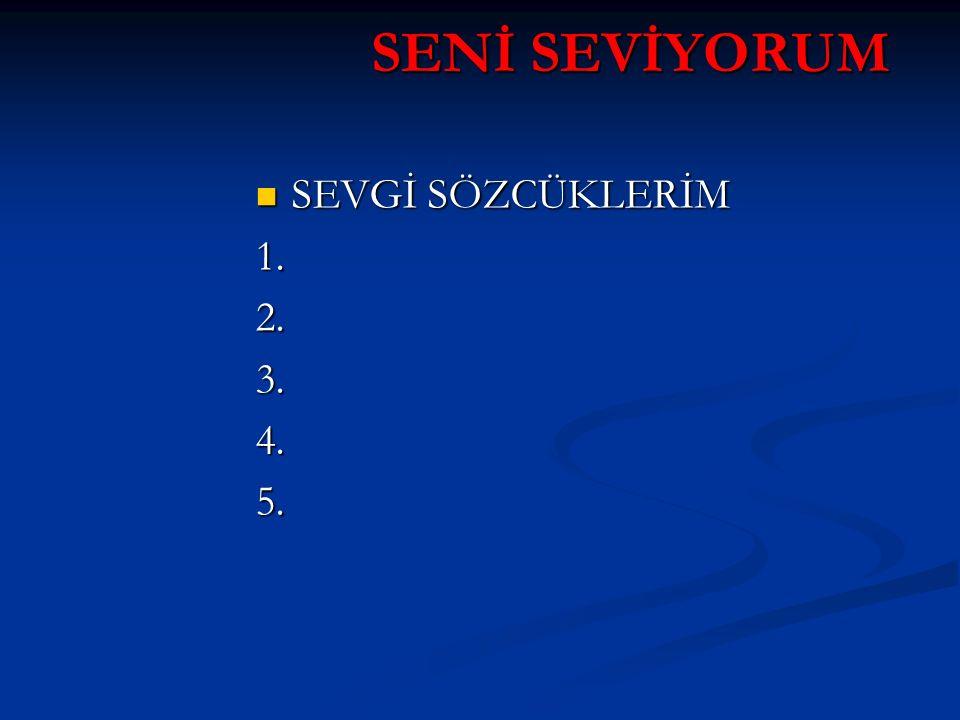 SENİ SEVİYORUM SEVGİ SÖZCÜKLERİM SEVGİ SÖZCÜKLERİM1.2.3.4.5.