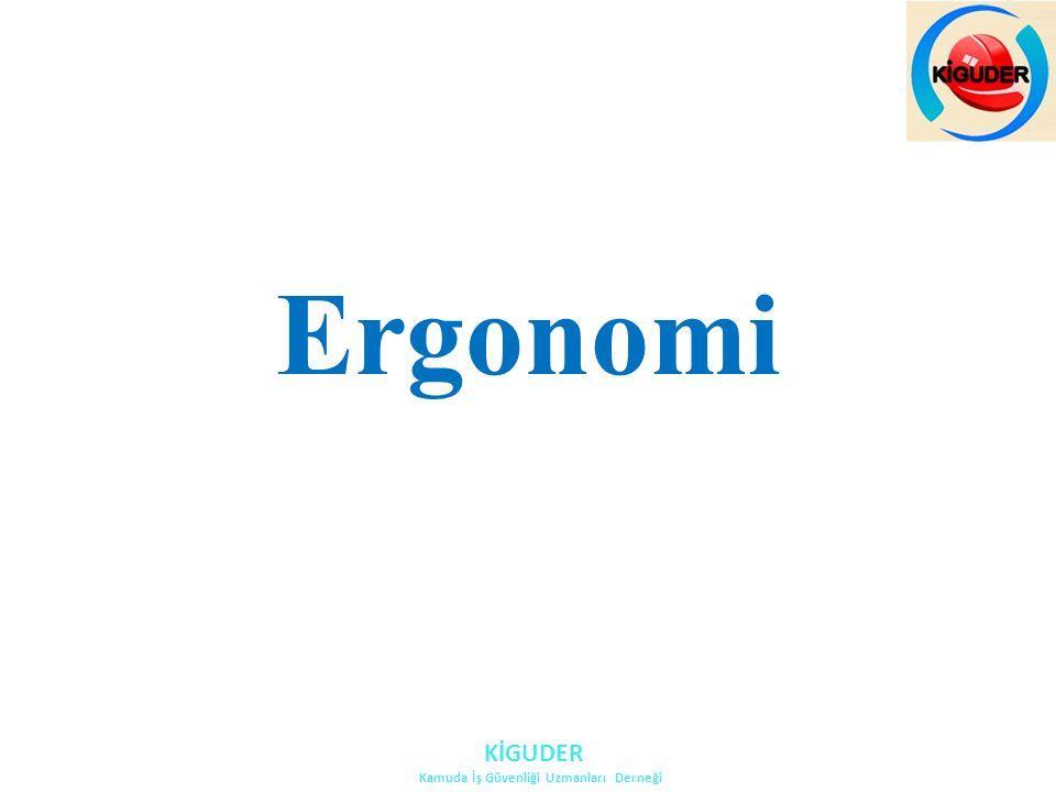 Ergo: İş Nomos: BilimErgonomi: İşbilim (Yunanca) Ergonomi, insanın davranışsal ve biyolojik özelliklerini inceleyerek bunlara uygun yaşama ve çalışma ortamları yaratmayı amaçlayan bir bilim dalıdır.