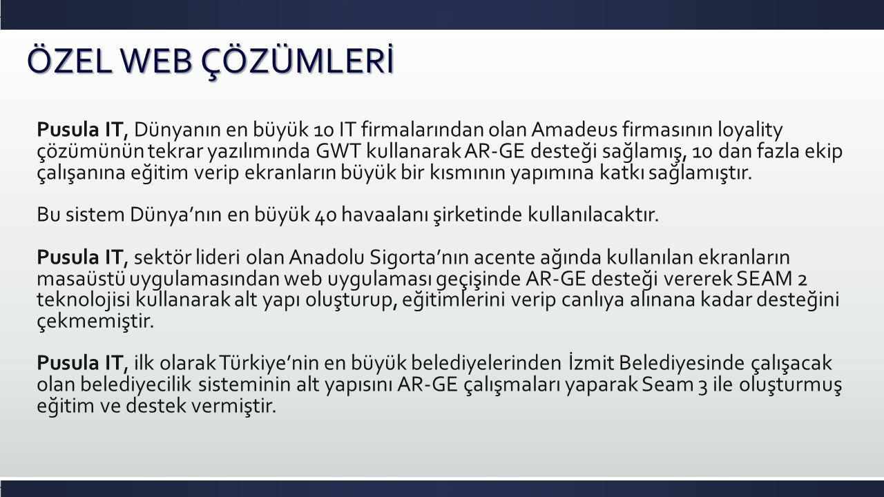 Pusula IT, şu an Sakarya, Sarıyer, Başakşehir, Pendik, Şişli belediyelerinden online çalışmakta olan ve 80 den fazla modülü bulunan Digikent çözümünün alt yapısını sıfırdan inşa etmek üzere çalışmalara başlamıştır.