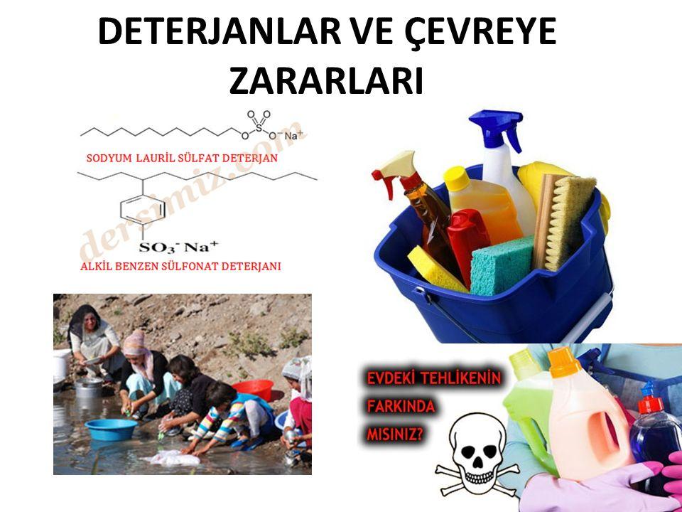Deterjan Kalıntıları Kimyasal deterjan kalıntılarını temizlemek çok zor.