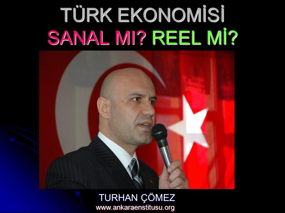 TÜRK EKONOMİSİ SANAL MI? REEL Mİ? TURHAN ÇÖMEZ www.ankaraenstitusu.org