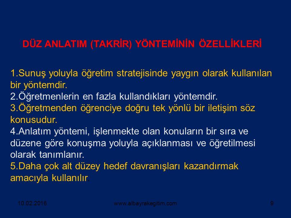 GÖSTERİP YAPTIRMA YÖNTEMİ 10.02.2016www.albayrakegitim.com30