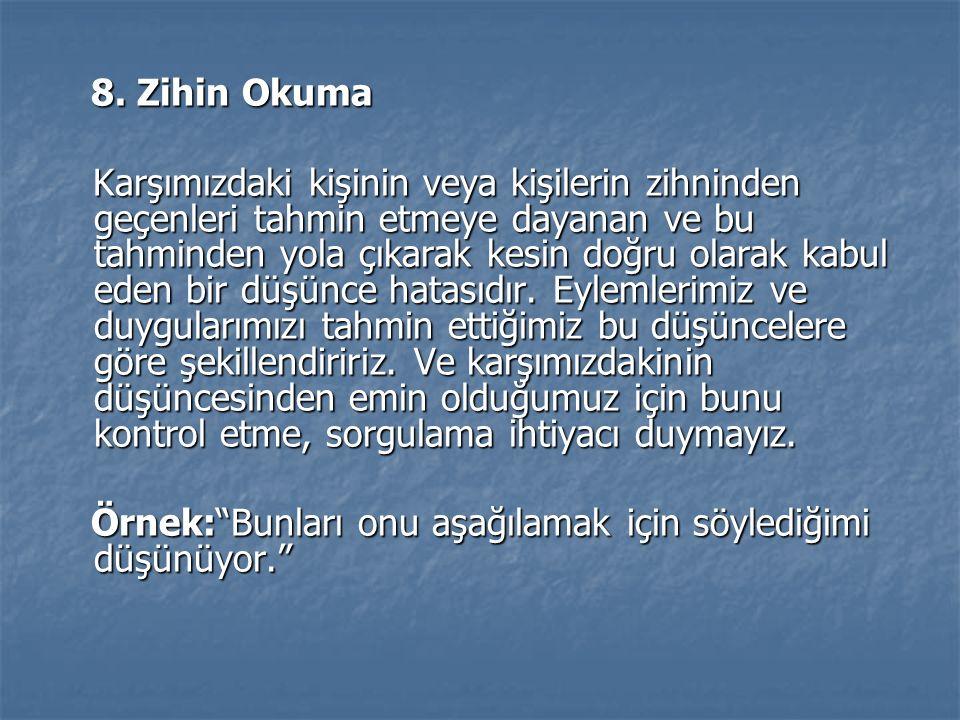 8.Zihin Okuma 8.