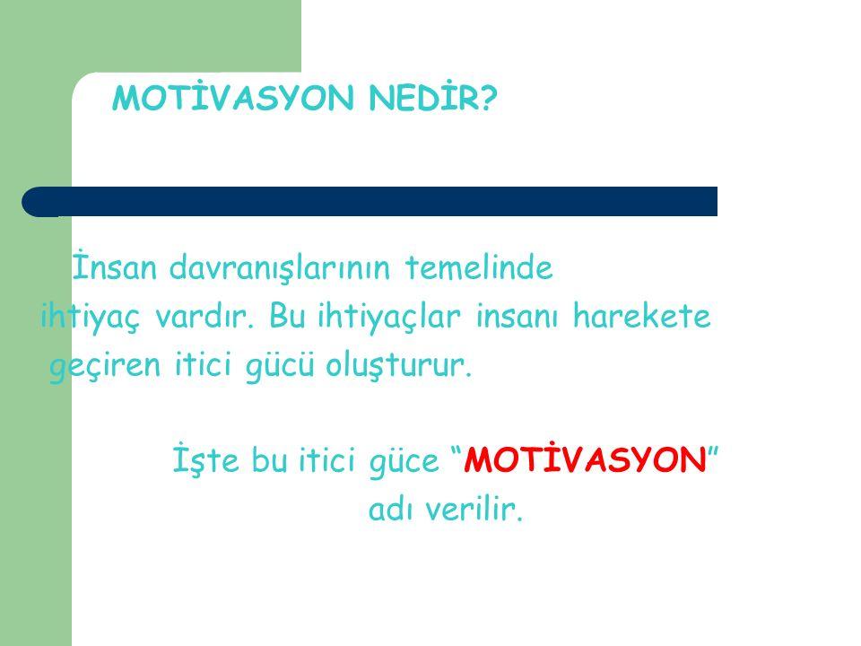 Motivasyon Nedir? 5 Motivasyon genel anlamıyla; hedefe yönelik olarak bir davranışın nasıl başlatıldığı, sürdürüldüğü ve sonuçlandırıldığı ile ilgili