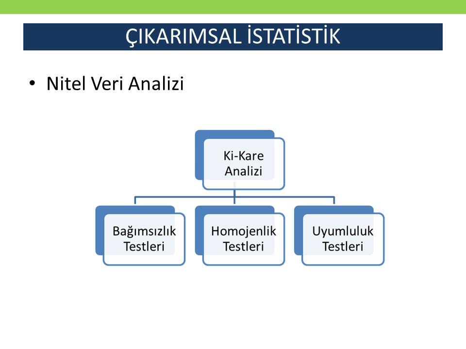 ÇIKARIMSAL İSTATİSTİK Nitel Veri Analizi