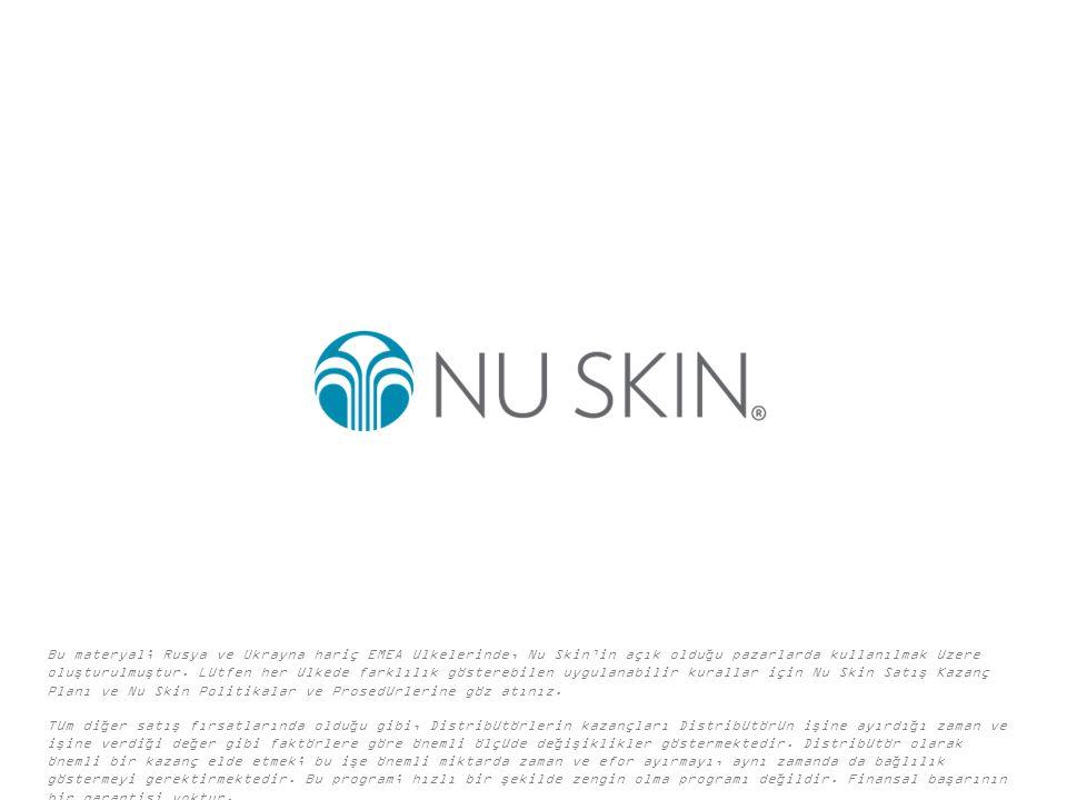 Bu materyal; Rusya ve Ukrayna hariç EMEA ülkelerinde, Nu Skin'in açık olduğu pazarlarda kullanılmak üzere oluşturulmuştur.