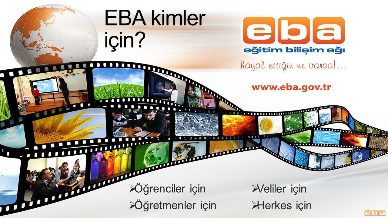 Portaller  EBA Portalleri  Herkes için  Öğretmenler için (Giriş Gerekli)