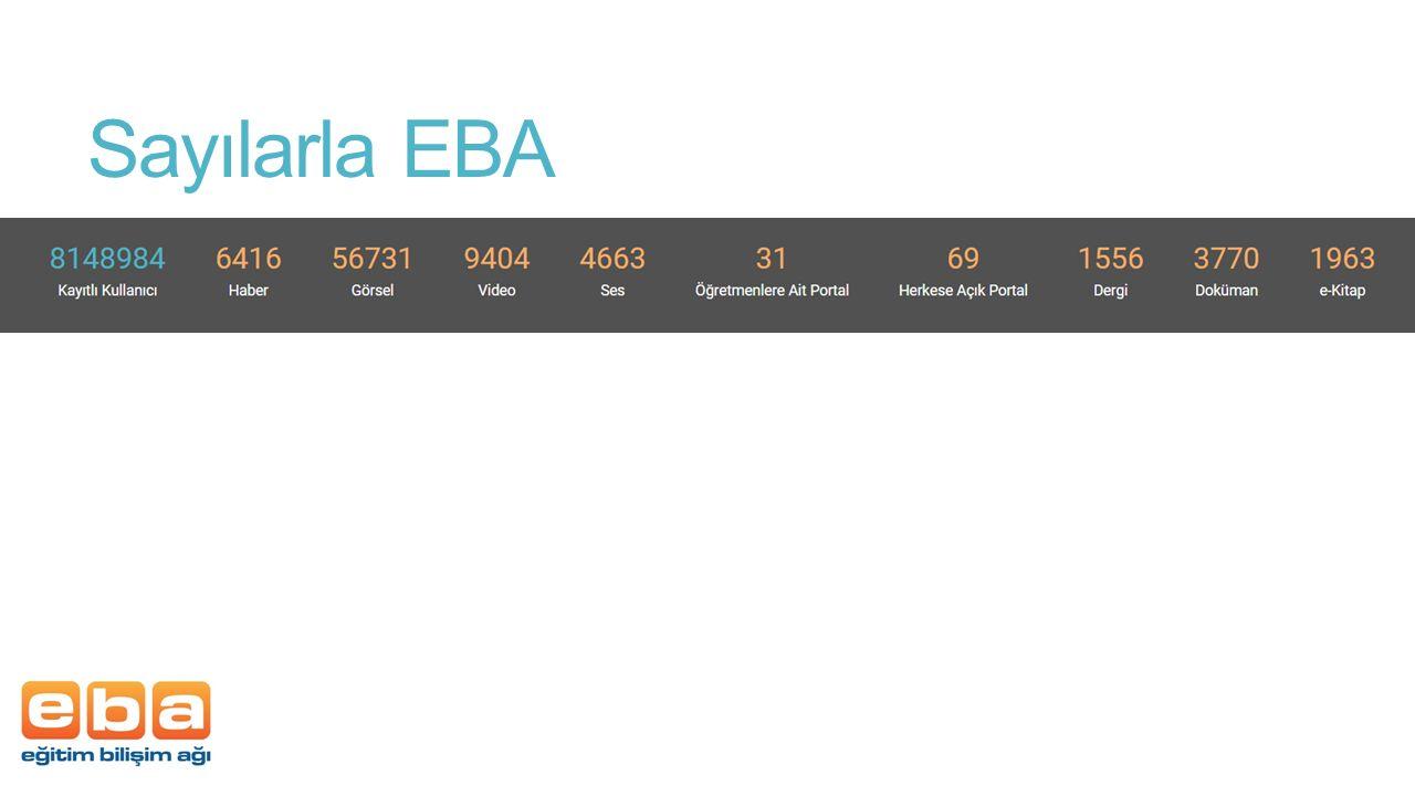 Sayılarla EBA