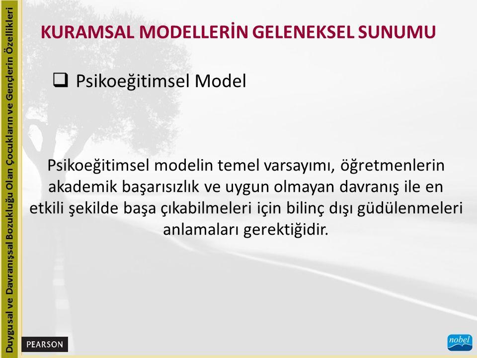 KURAMSAL MODELLERİN GELENEKSEL SUNUMU  Ekolojik Model Ekolojik bir model, ekolojik psikoloji ve toplum psikolojisinde yer alan kavramlara dayanır.