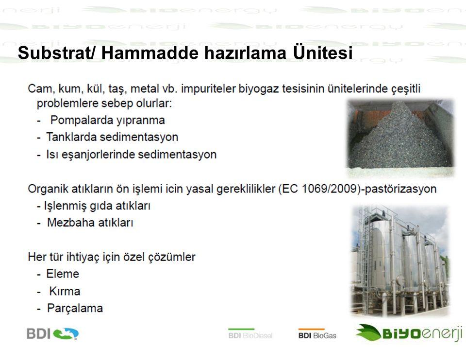 Substrat/ Hammadde hazırlama Ünitesi